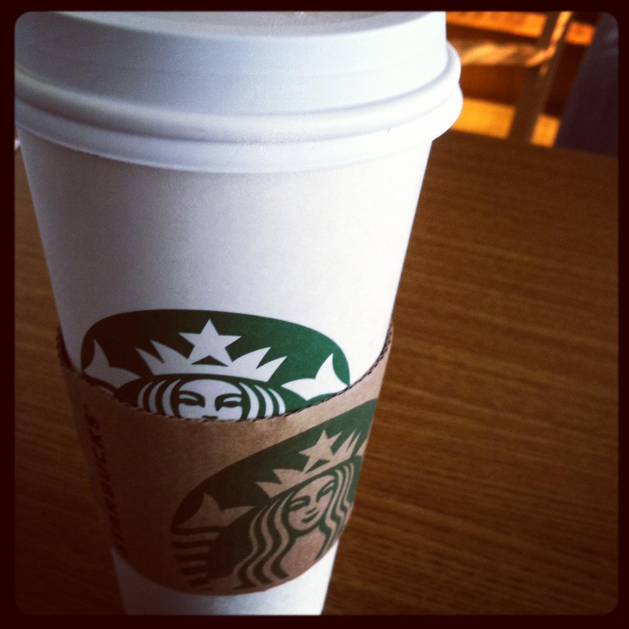 Black coffee starbucks
